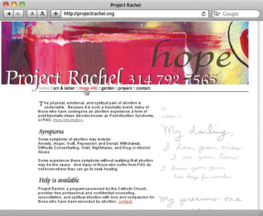 Project Rachel website