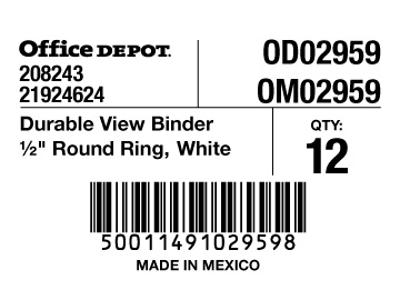 6. carton labels