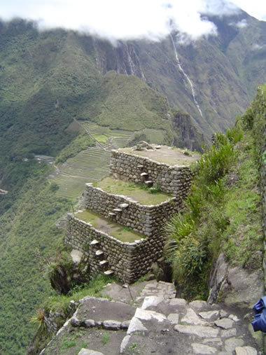 Huayna Picchu floating stairs.